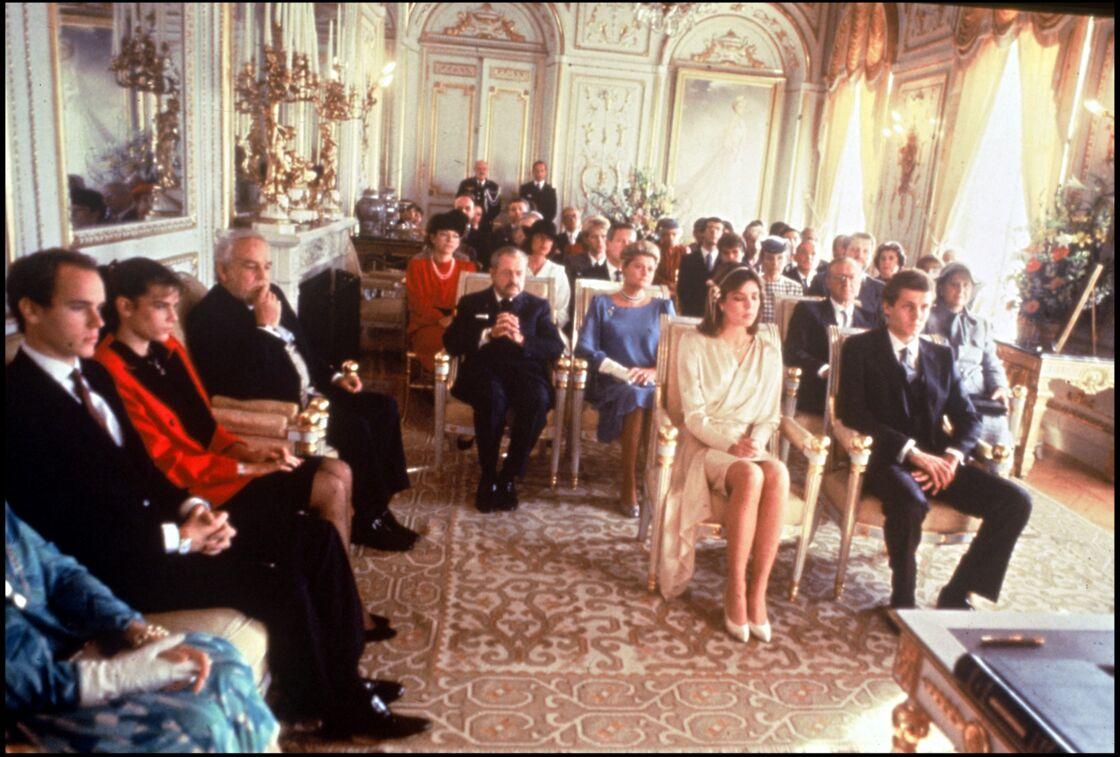 Mariage civil de Caroline de Monaco et Stefano Casiraghi