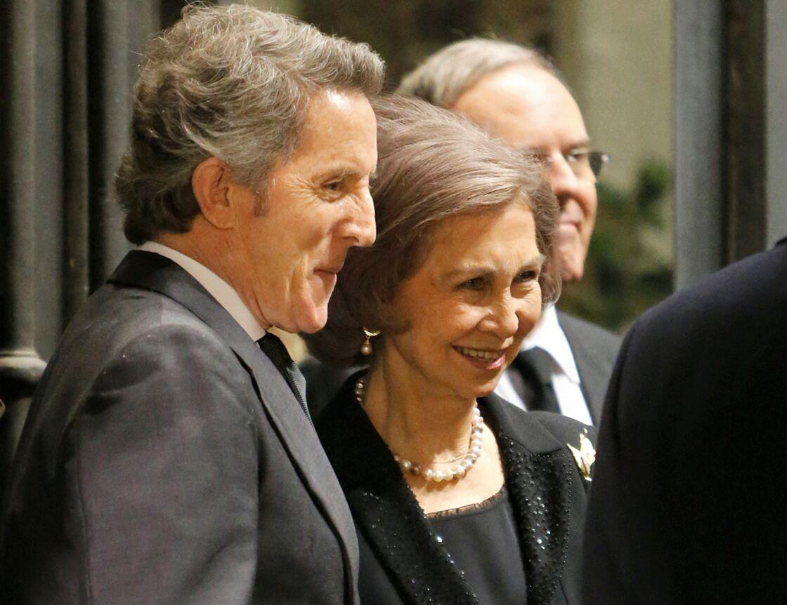 Alfonso Diez et la reine Sofia, à Madrid, en 2014.