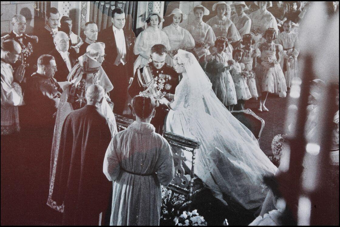 Mariage de Grace Kelly et du prince Rainier dans la cathédrale de Monaco