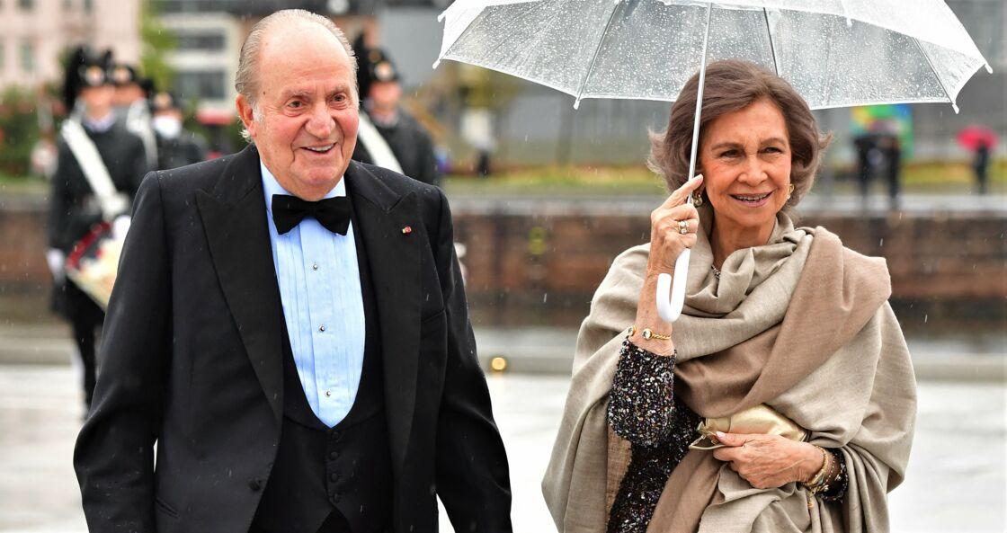 Le roi Juan Carlos et la reine Sofia d'Espagne, en 2017.