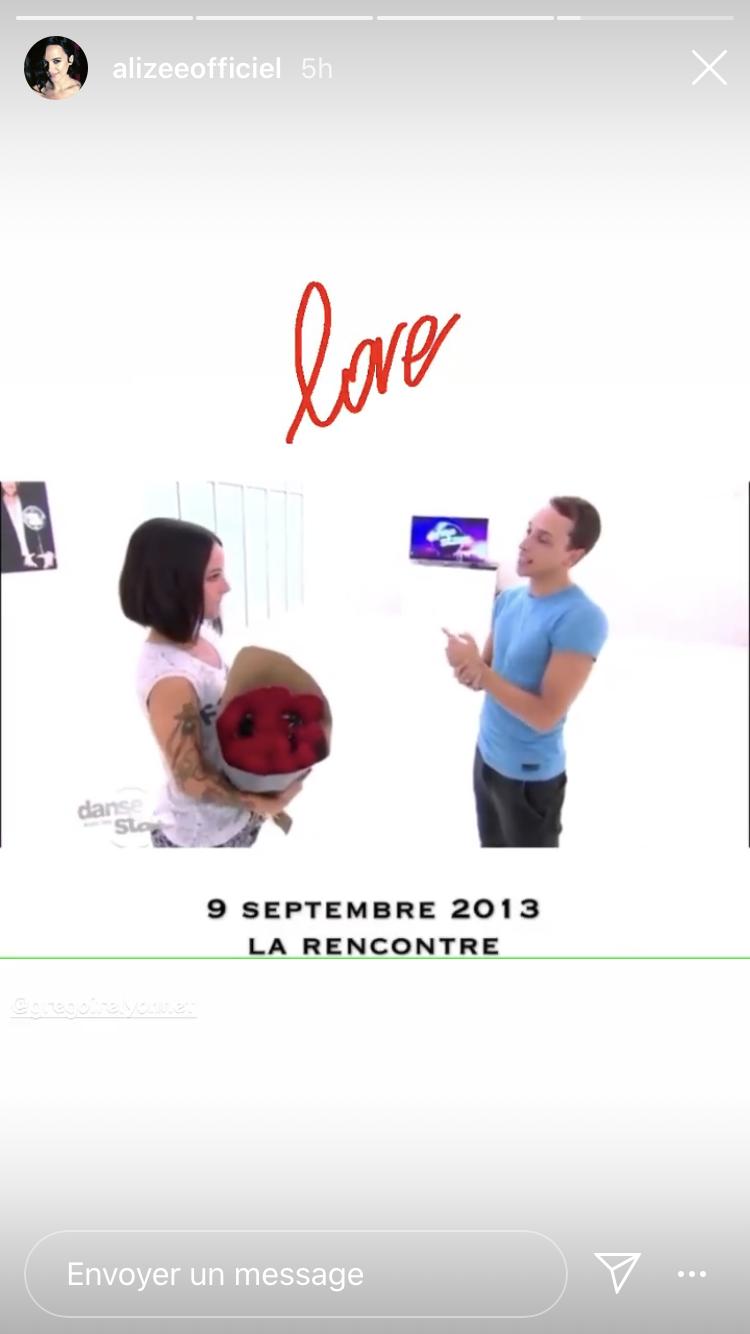 Vidéo montrant leur première rencontre.   Story Instagram / alizeeoffiel