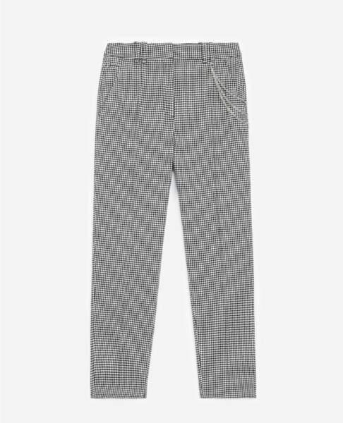 Pantalon droit motif pied de poule, 195€, The kooples