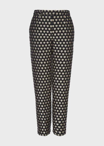 Pantalon en jacquard géométrique effet 3D, 950€, Giorgio Armani