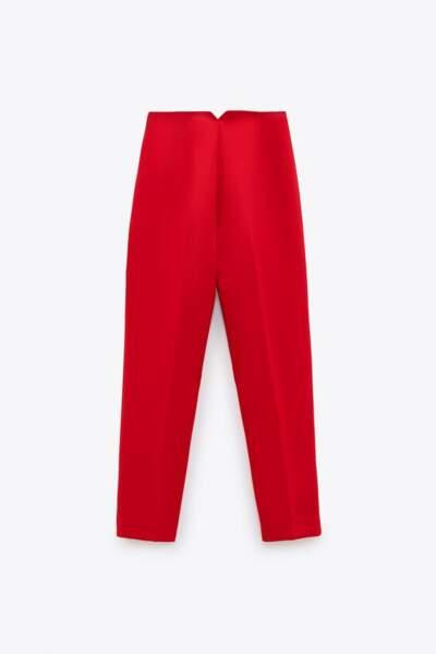 Pantalon satiné taille haute, 29,95€, Zara