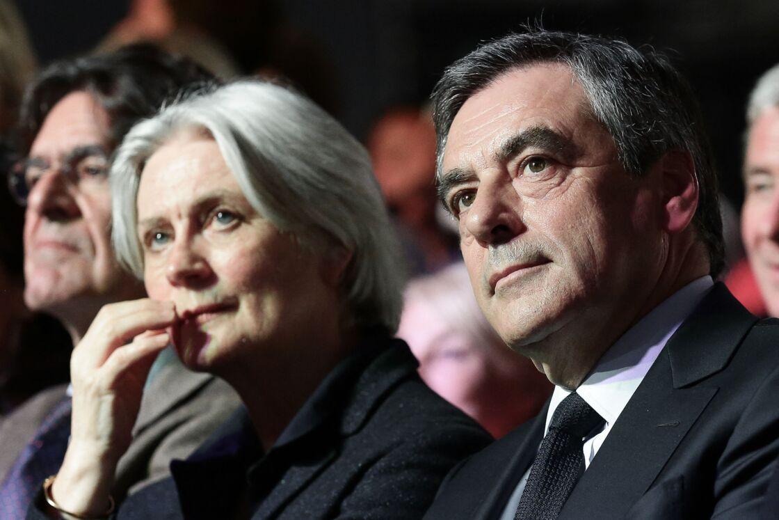 Penelope et François Fillon le 9 avril 2017