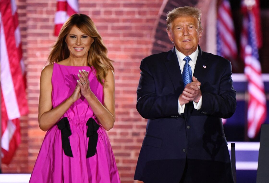 Melania et Donald Trump, lors de la Convention nationale républicaine à Baltimore, le 26 août 2020.