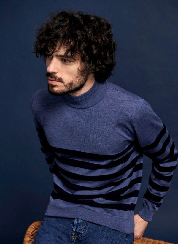 Le pull « Lazar »  100% laine de la collection Automne-Hiver 2020 de Maison Montagut