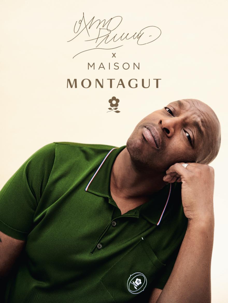 Le rappeur Oxmo Puccino collabore avec Maison Montagut pour un t-shirt et polo stylés