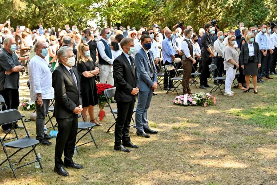 Le maire de Cannes assistant aux obsèques d'Annie Cordy sur la Butte Saint-Cassien le 12 septembre 2020