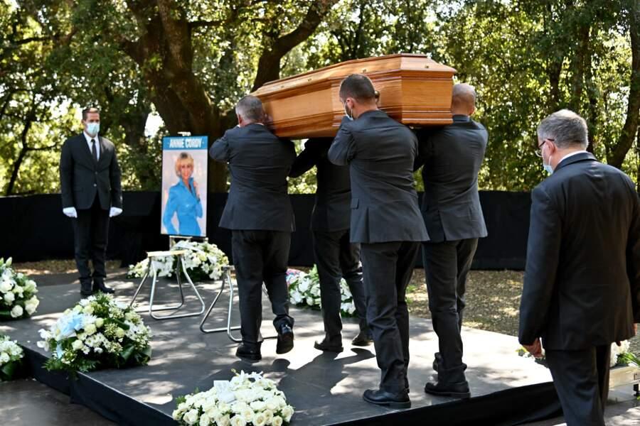Le convoi funéraire d'Annie Cordy le 12 septembre 2020