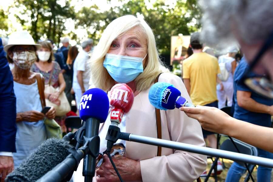Michèle Torr aux obsèques d'Annie Cordy le 12 septembre 2020 à Cannes