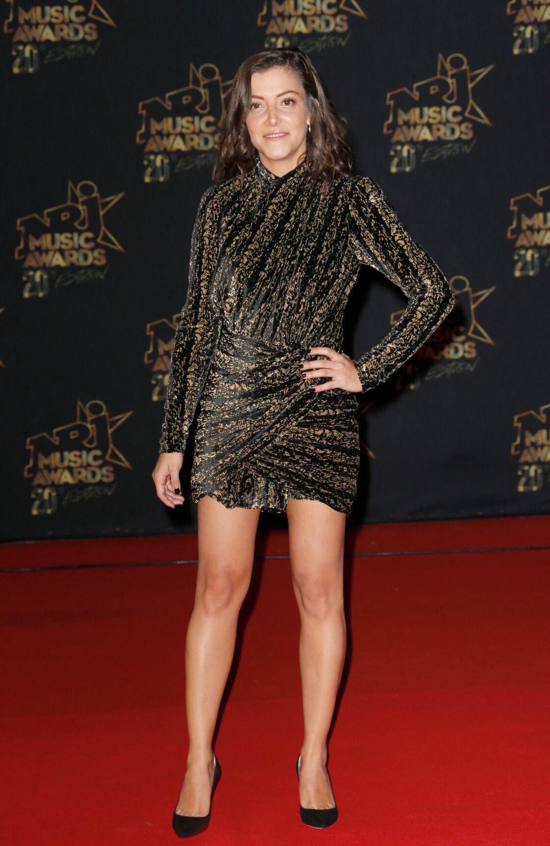 Camille Lellouche lors de la 20ème cérémonie des NRJ Music Awards à Cannes, le 10 novembre 2018.
