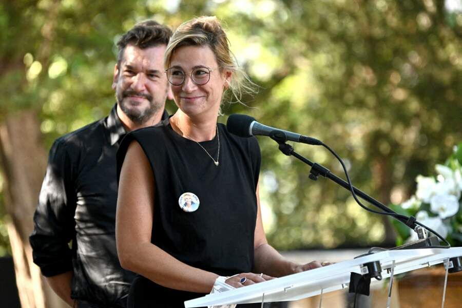 L'actrice belge Virginie Hocq aux obsèques d'Annie Cordy le 12 septembre 2020