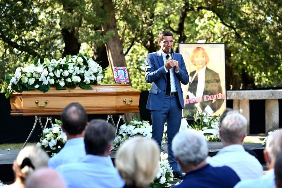 Le maire de Cannes, David Lisnard, aux obsèques d'Annie Cordy le 12 septembre 2020
