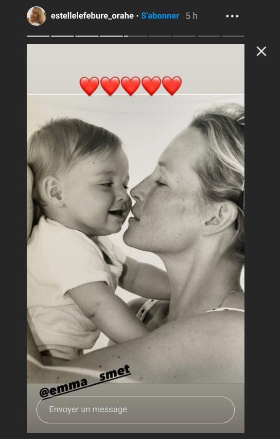 Capture d'écran Instagram de la story du compte d'Estelle Lefébure. Samedi 12 septembre 2020.