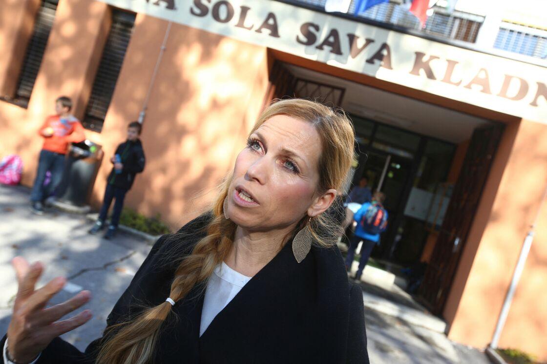 Mirjana Jelancic, amie d'enfance de Melania Trump, à Sevnica en Slovénie.