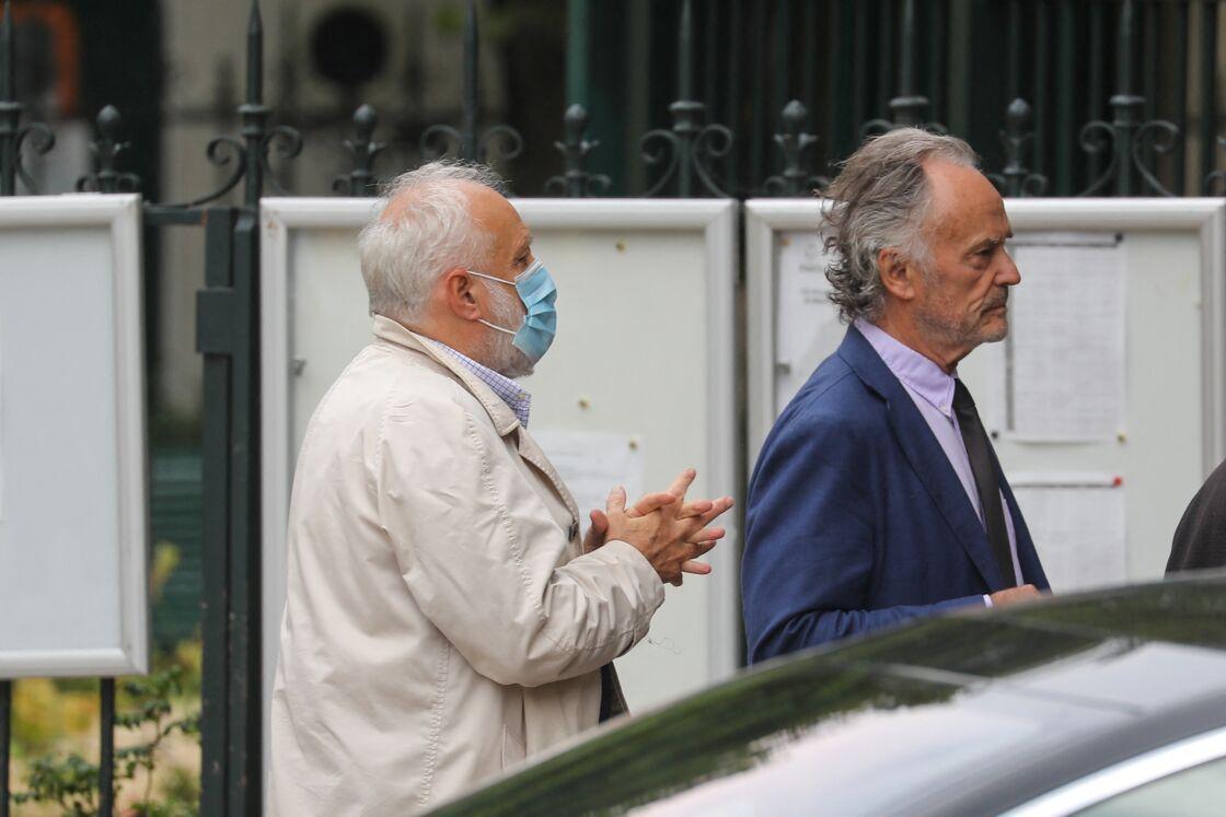 François Berléand, masqué, pour l'hommage à Guy Bedos le 4 juin 2020