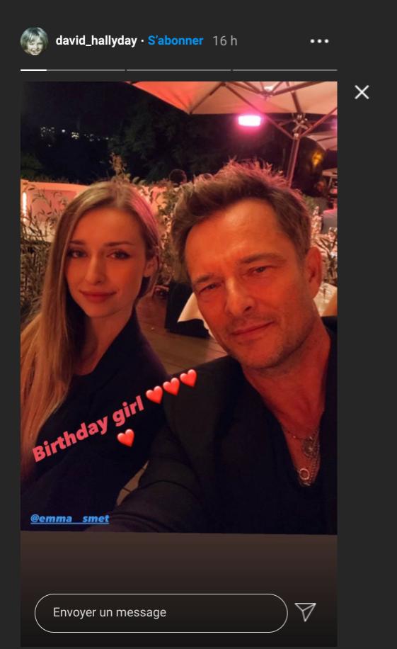 Capture d'écran Instagram de la story du compte de David Hallyday. Samedi 12 septembre 2020.