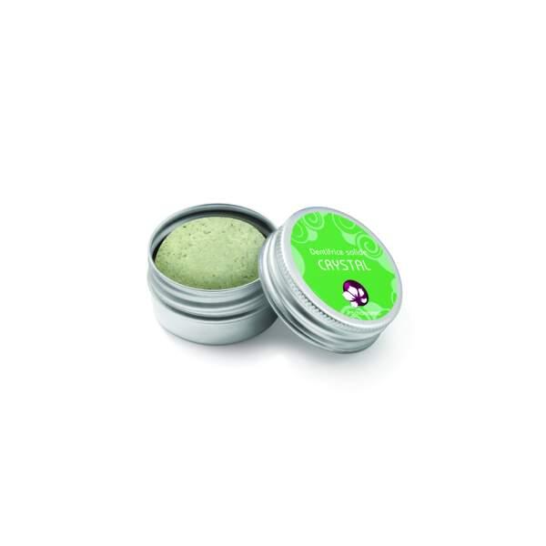 Dentifrice Crystal, Pachamamaï, 20 g, 12€, recharge en boîte carton 9,90€, sur pachamamai.com, doux-good.com, en magasins bio et en pharmacies