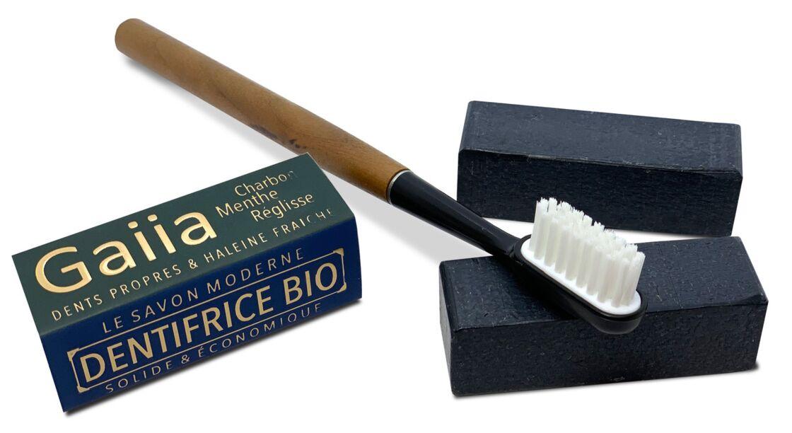 Des dentifrices solides hyper pratiques et des brosses à dents rechargeables pour protéger l'environnement (Gaiia)