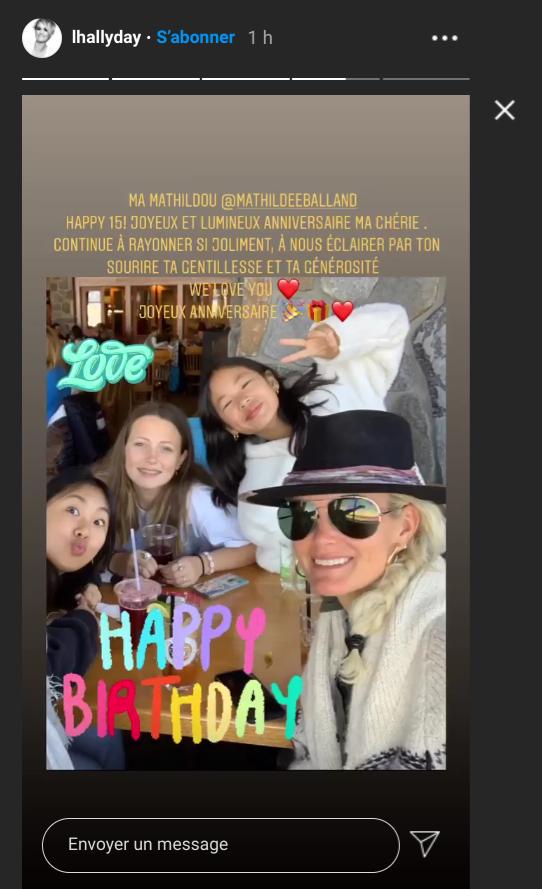 Capture d'écran Instagram de la story du compte de Laeticia Hallyday. Dimanche 13 septembre 2020.