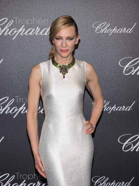 Cate Blanchett : collier haute joaillerie Red Carpet Collection de Chopard