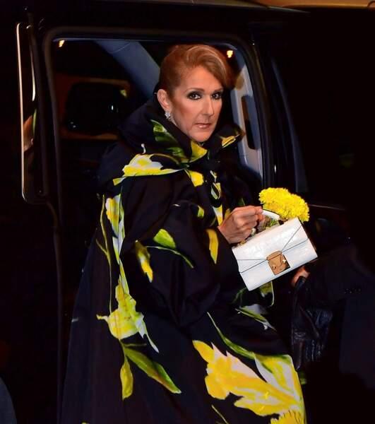 Céline Dion : boucles d'oreilles en or blanc et diamants de la Red Carpet Collection de Chopard