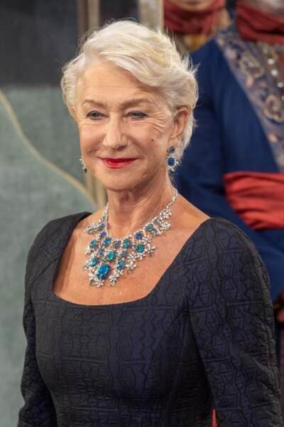 Helen Mirren : collier en opales, tourmalines et diamants de la Red Carpet Collection de Chopard