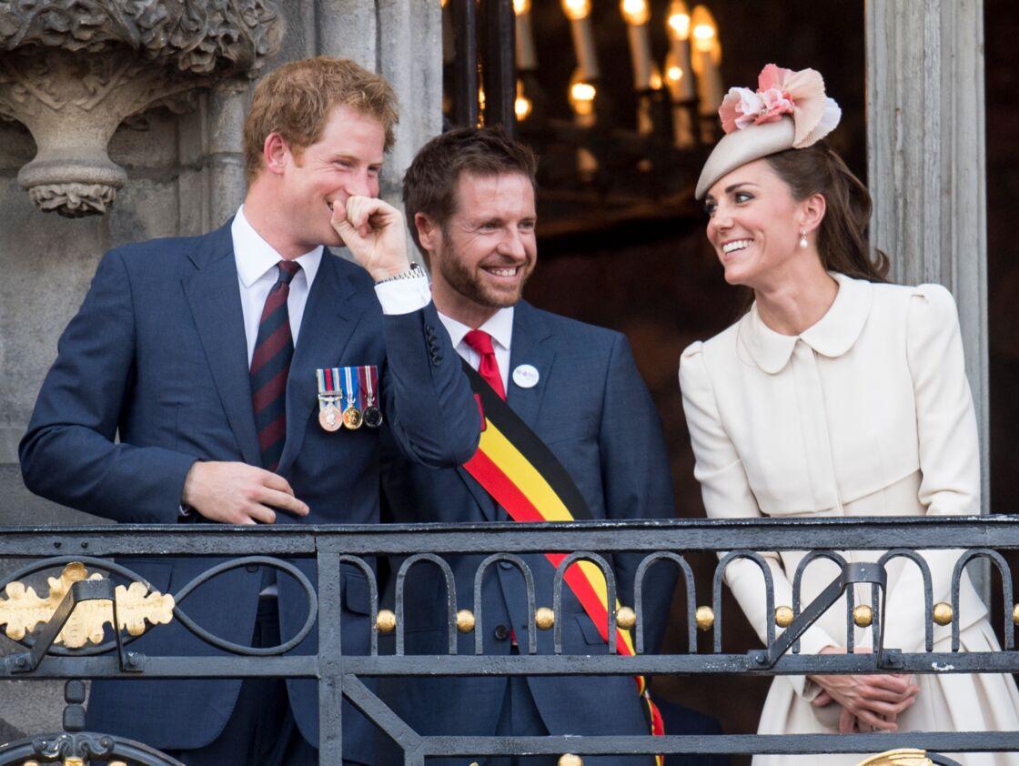 Kate et Harry à la cérémonie de commémoration du centenaire de la première guerre mondiale, en août 2014