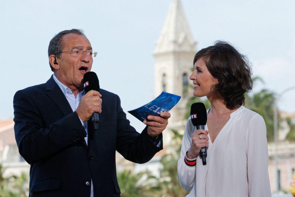 Jean-Pierre Pernaut et Dominique Lagrou-Sempère, lors de la remise du titre du plus beau marché de France, en mai 2018.