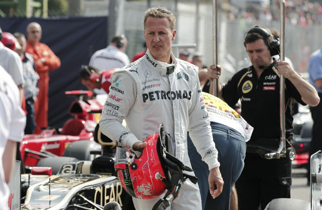 Michael Schumacher lors du grand prix de Monza en Italie le 9 septembre 2012.