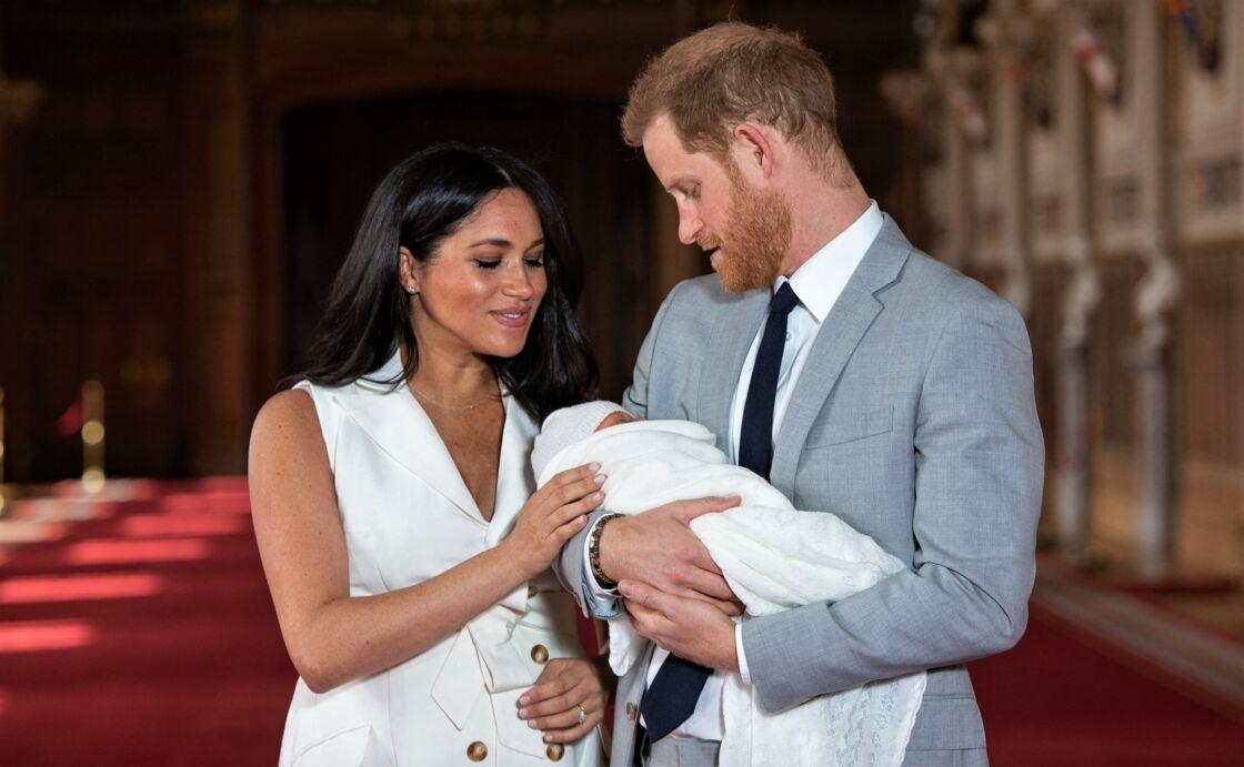 Harry, Meghan et Archie, à Londres, en mai 2019.