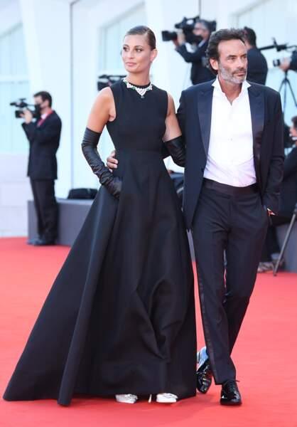 Anthony Delon et sa fiancée Sveva Alviti lors de la cérémonie d'ouverture de la 77ème édition du festival international du film de Venise, en septembre 2020