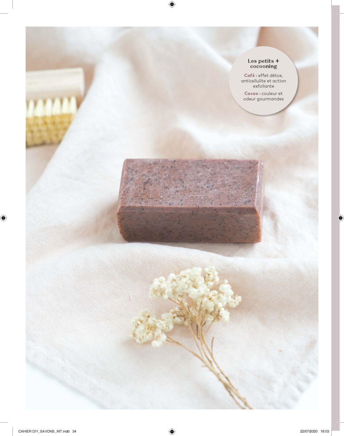 Voilà à quoi va ressembler votre savon gommant au chocolat et au marc de café.