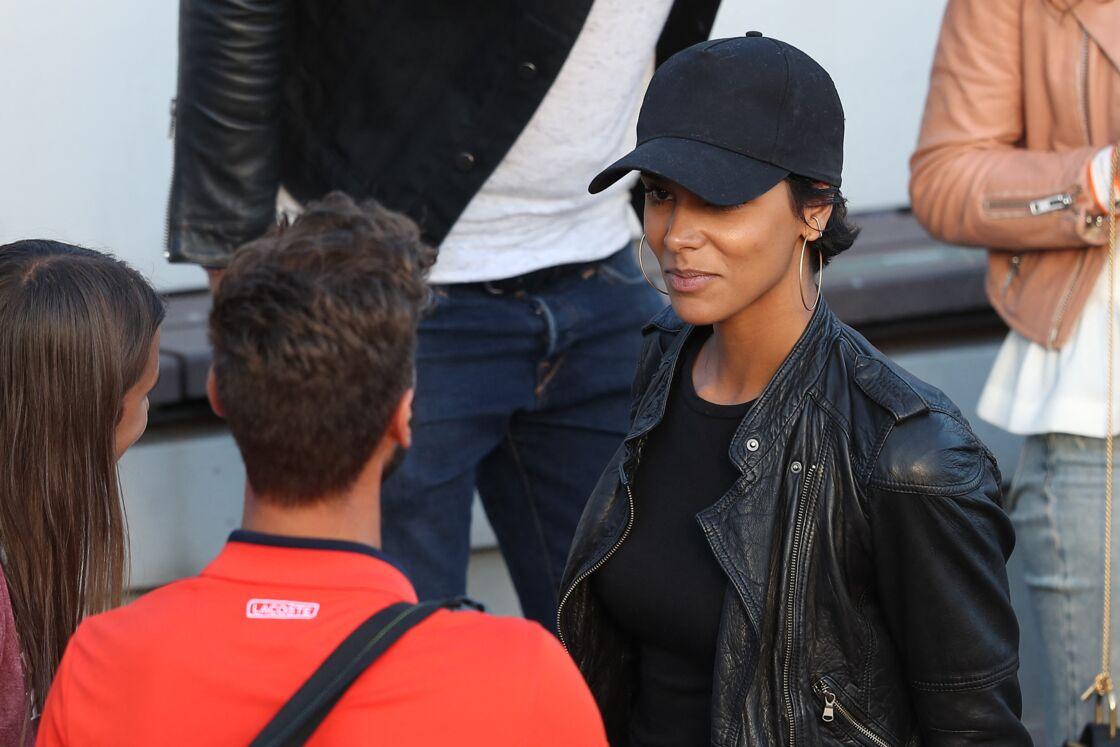La chanteuse Shy'm est venue soutenir son compagnon Benoît Paire lors des internationaux de tennis de Roland Garros à Paris le 4 juin 2017