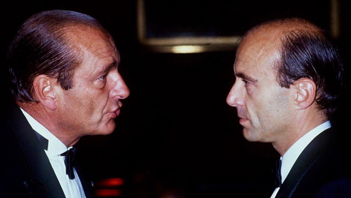 Jacques Chirac et Alain Juppé, à Chantilly, en 1988.