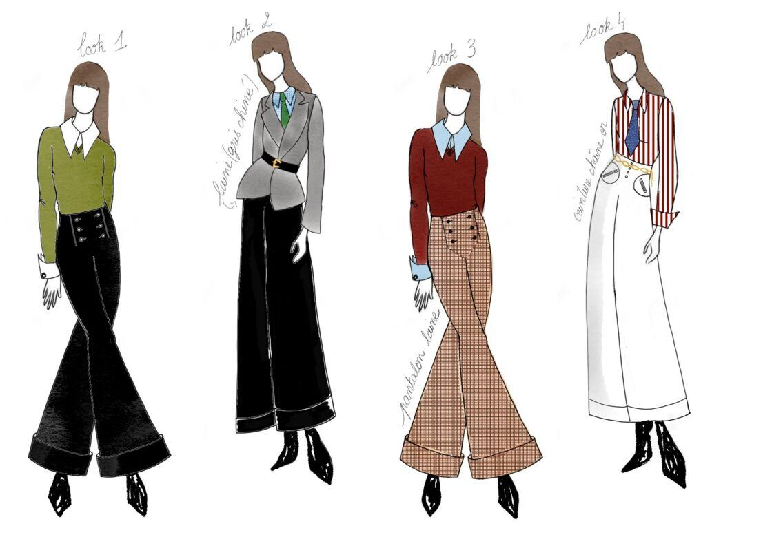 Clara Luciani a dessiné elle-même les croquis de ce vestiaire résolument mode.