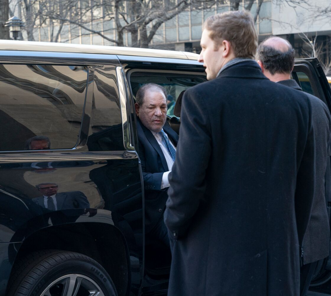 Harvey Weinstein à la Cour suprême de l'État de New York en février dernier pour son procès