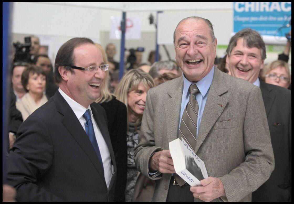 Malgré leurs divergences politiques, François Hollande et Jacques Chirac ont toujours eu un grand respect l'un pour l'autre