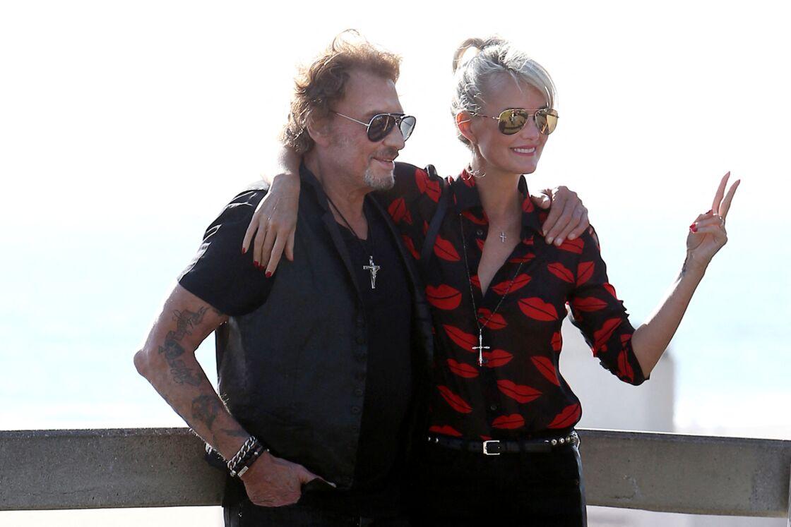 Johnny et Laeticia Hallyday à Santa Monica le 27 septembre 2014