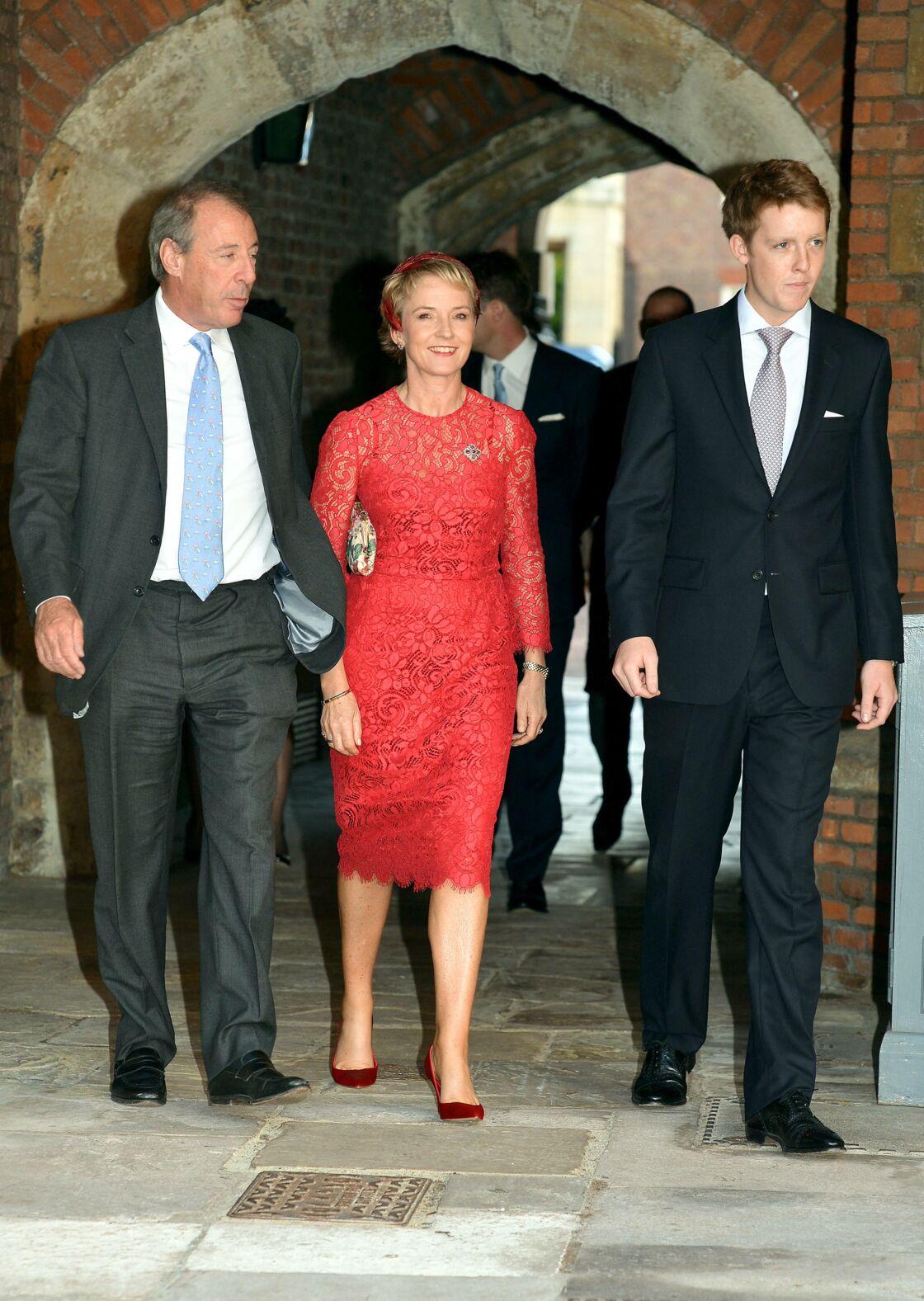 Hugh Grosvenor arrivant au baptême du prince George, à la chapelle royale du palais St James a Londres, le 23 octobre 2013.