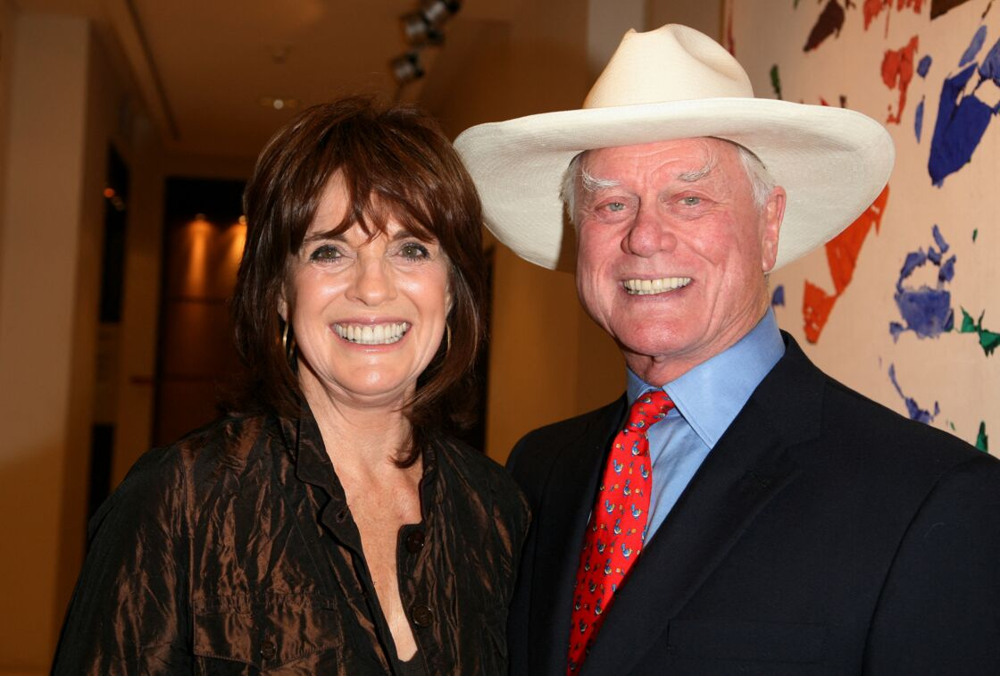 Linda Gray et Larry Hagman en 2010.