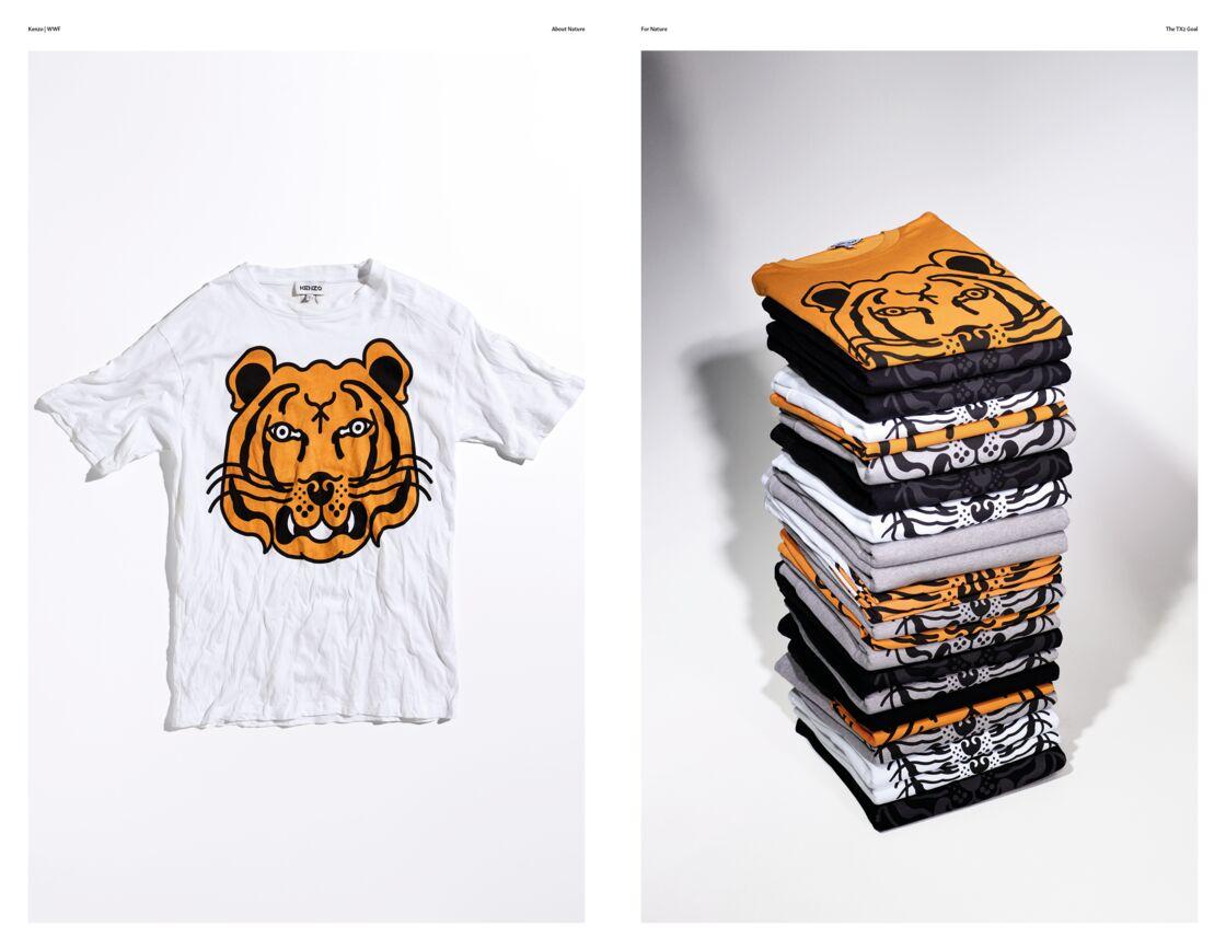 La collection capsule de Kenzo en collaboration avec WWF  se compose de basiques mode, en vente le 28 septembre 2020.
