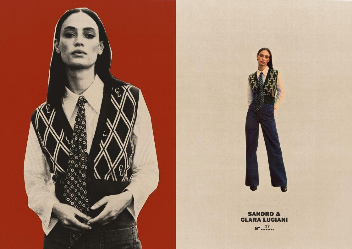 Les tenues imaginées ppur la collection Clara Luciani & Sandro