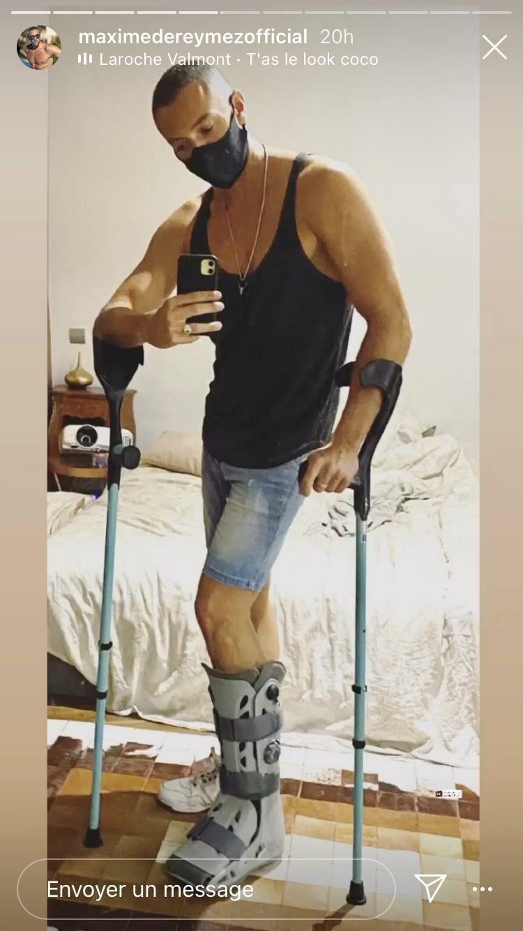 Maxime Dereymez blessé à la cheville