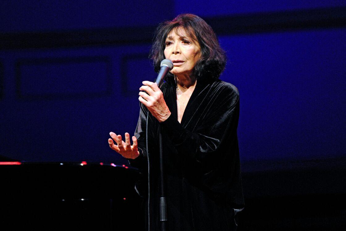 Juliette Greco en concert à Hambourg le 21 octobre 2015.
