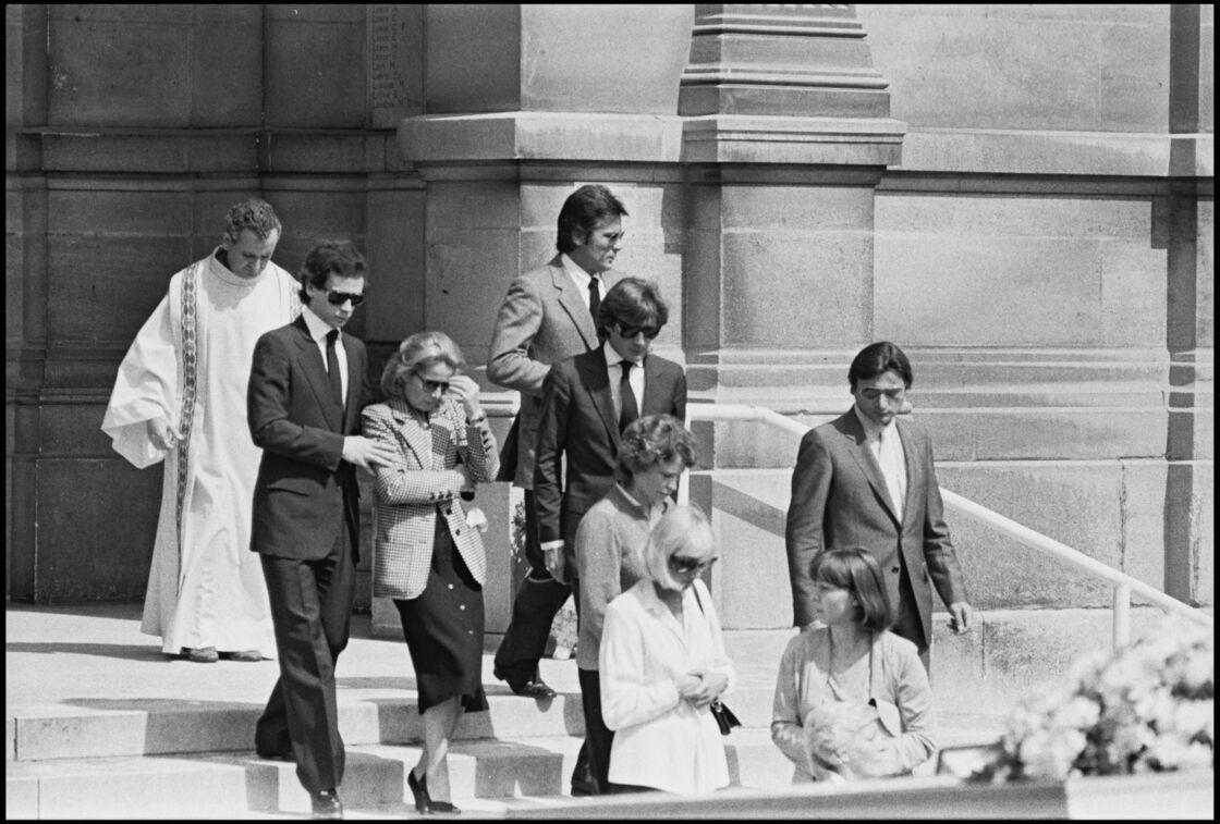 Delon aux obsèques de Romy Schneider
