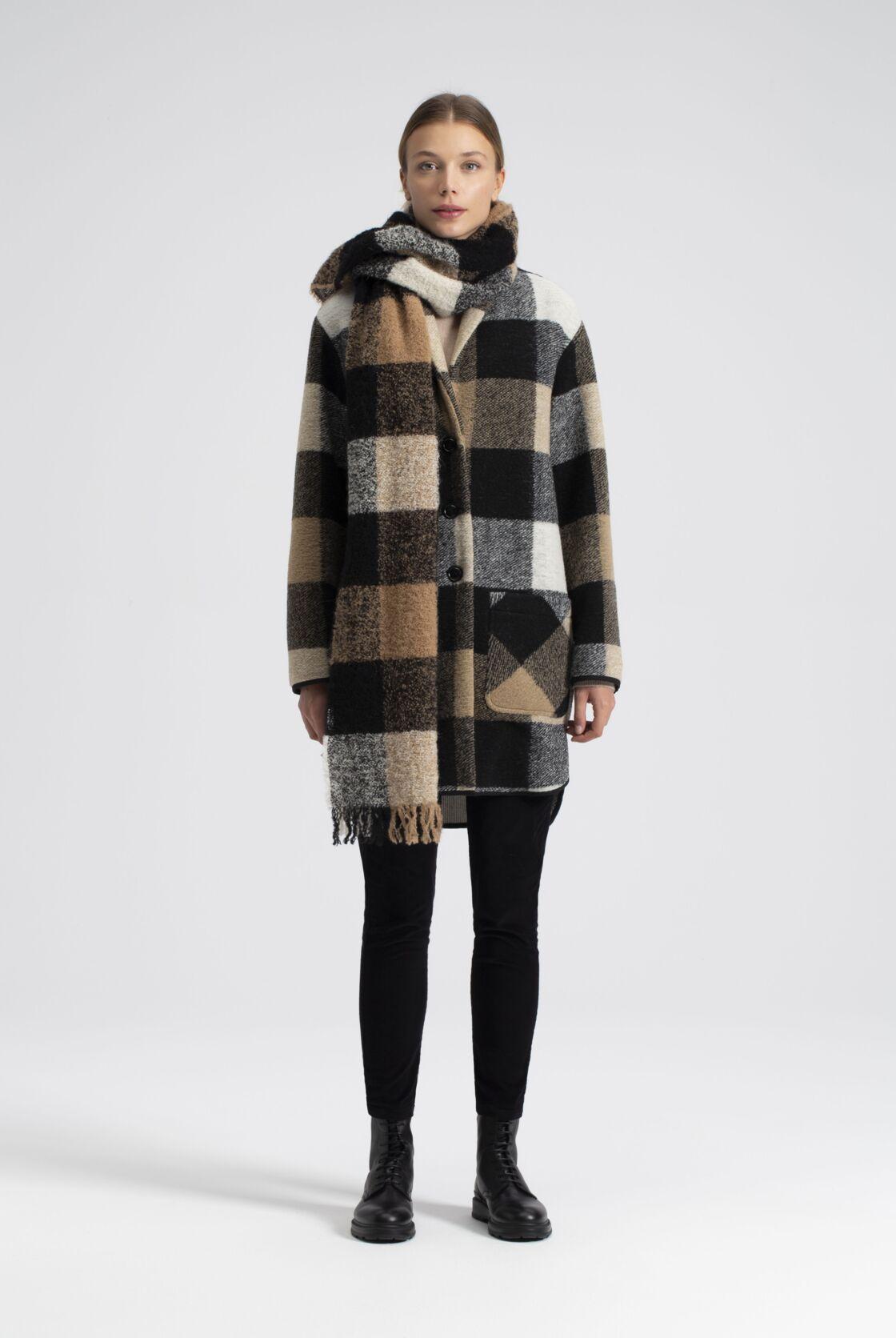 Manteau à carreaux de la collection Woolrich