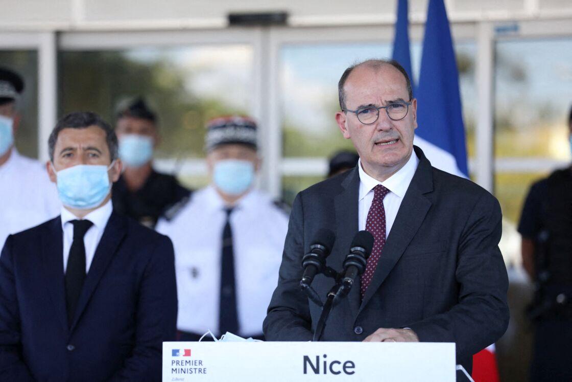 Gérald Darmanin et Jean Castex à Nice le 25 juillet 2020