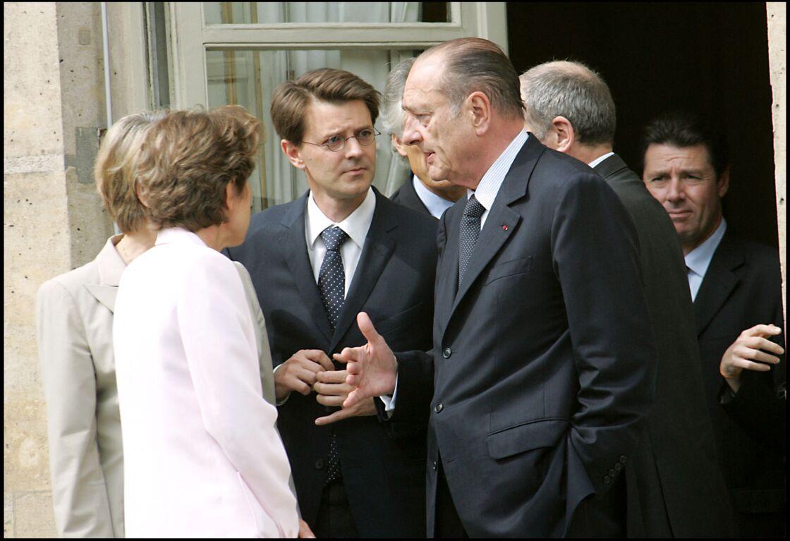 François Baroin aux côtés de Jacques Chirac, en 2005.